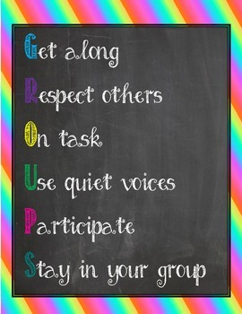 Groups Classroom Management Poster - FREEBIE!