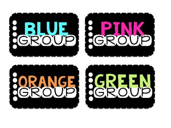Groups - Rounds - Tables Labels