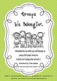 Groups We Belong To - worksheets and printables.