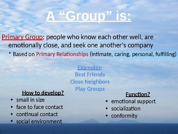 Groups and Organizations PPT