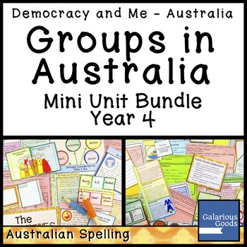 Groups in Australia Mini Unit Bundle (Year 4 HASS)