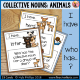 Groups of Animals Collective Noun 'I Have Who Has' Game for Matching Activity