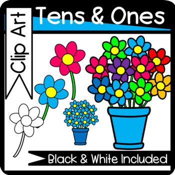 Groups of Ten and Ones Clip Art