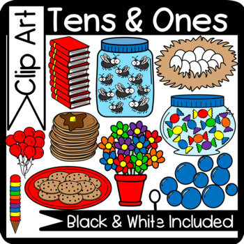 Groups of Ten and Ones Clipart (Place Value)