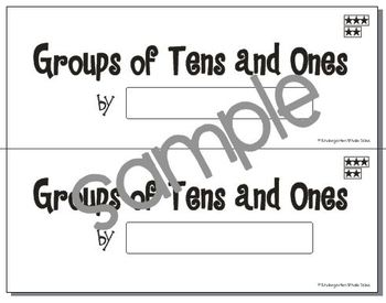 Groups of Tens and Ones Book: Composing and Decomposing Numbers {Common Core}