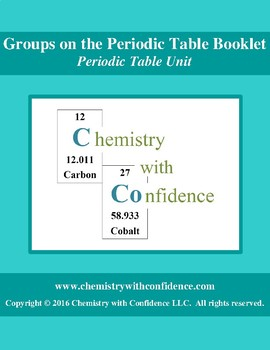 Groups on the Periodic Table Booklet