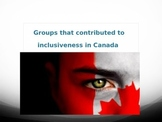 Groups that contributed to Canada's Identity