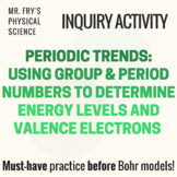 Group & Period Numbers to Determine Energy Levels & Valenc
