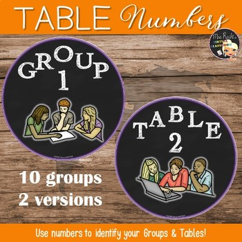 Groupwork and Table numbers - Freebie