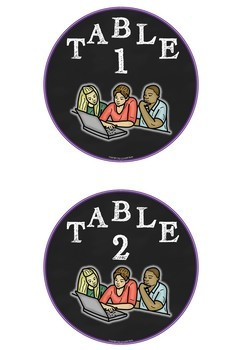 Table numbers Freebie