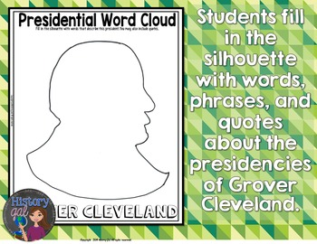 Grover Cleveland Coloring Page and Word Cloud Activity