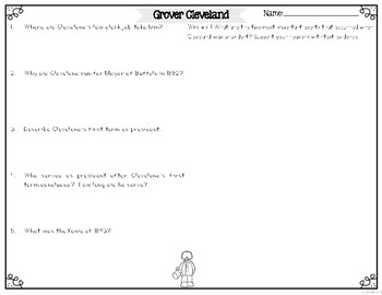 Grover Cleveland Differentiated Reading Passages & Questions