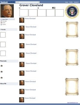 Grover Cleveland Presidential Fakebook Template
