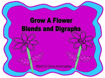 Grow A Flower- Blends and Digraphs Craftivity