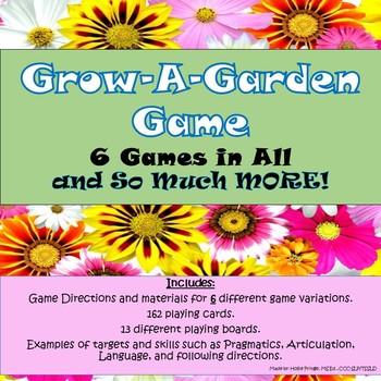 Grow-A-Garden Speech & Language Game