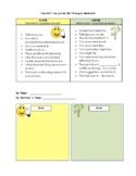 Grow & Glow Feedback Chart with Sentence starters!