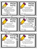 Grow Note - Send Home note to Parents