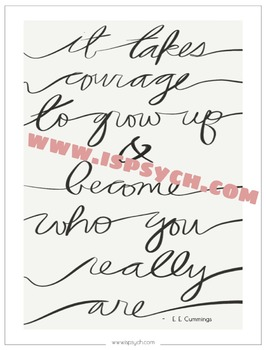 Grow Up with Courage Quote Printable