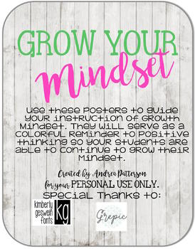 Grow Your Mindset Posters