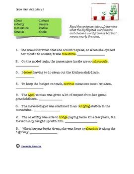 Grow Your Vocabulary 1