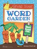 Grow Your Word Garden Short Vowels CVC Worksheets