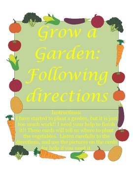 Grow a Garden Following Directions