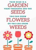 Grow a Positive Mindset Poster