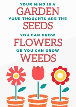 Grow a Positive Mindset Poster