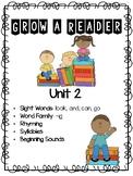 Grow a Reader Unit 2