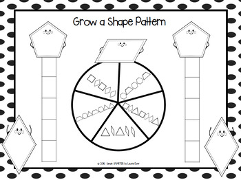 Grow a Shape Pattern:  NO PREP Growing Pattern Race to the Top Game