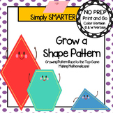 Grow a Shape Pattern:  NO PREP Growing Pattern Race to the