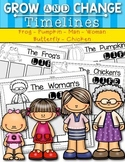 {Grow and Change Timelines} for Kindergarten and First Grade - Bundle