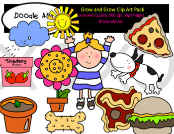 Grow and Grow Clipart Pack