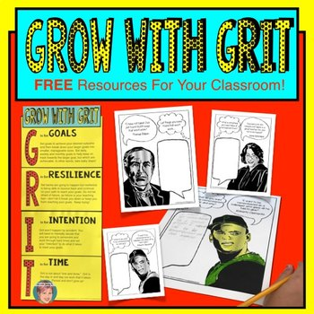 Grow with Grit : Growth Mindset Coloring Pages & Grit Poster