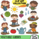 Growing A Vegetable Garden Clip Art Collection