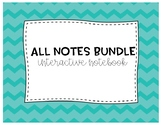 Growing ALL Notes Bundle 5th Grade