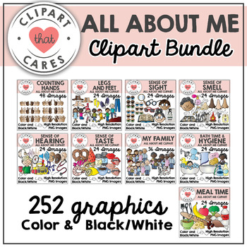 All About Me Clipart Bundle by Clipart That Cares
