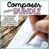 Growing BUNDLE Composer Activities for Kids, 10+ Biographies, Arrangements