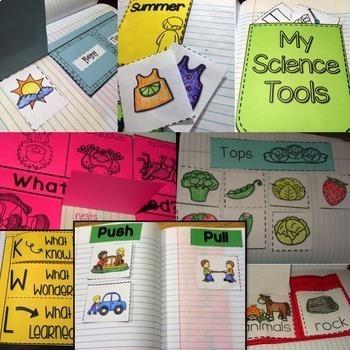 Science Interactive Notebook: Kindergarten Science / First Grade Science