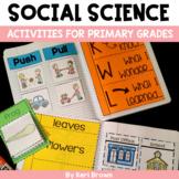 Science Interactive Notebook: Kindergarten Science / First