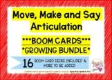 Growing BUNDLE: Move, Make & Say ARTICULATION BOOM CARDS 1