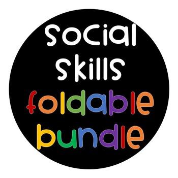 Social Skills Interactive Notebook Foldable BUNDLE