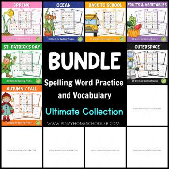 Growing BUNDLE of Spelling Word Practice