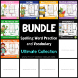 Growing BUNDLE of Spelling Word Practice