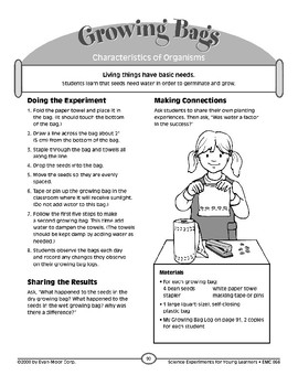 Growing Bags (Characteristics of Organisms)