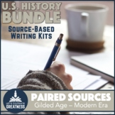 US History Paired Primary Source Document Writing Activities 7-Pack Bundle