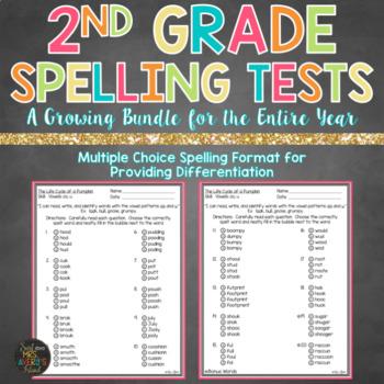 Growing Bundle 2nd Grade Spelling Tests