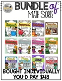 The BUNDLE: A Year of Math Sorts (CCSS Aligned!)