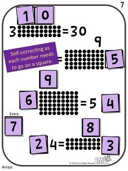 Bundle - Number Square Tiles Printed Cards or iPad Puzzles!