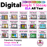 Bundled All Year ELA Google Slides & Seesaw Digital Learning
